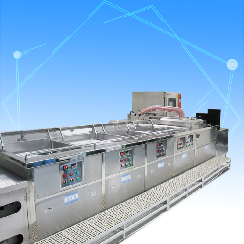 Plastic tray ultrasonic cleaning machine